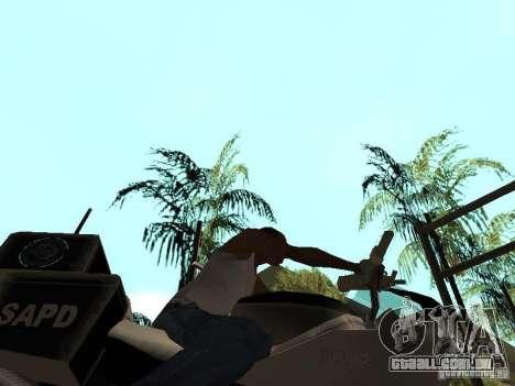 NRG-500 Police para GTA San Andreas vista interior
