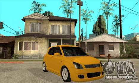 Suzuki Swift 4x4 CebeL Modifiye para GTA San Andreas vista traseira