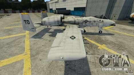 A-10A Thunderbolt II para GTA 4 esquerda vista