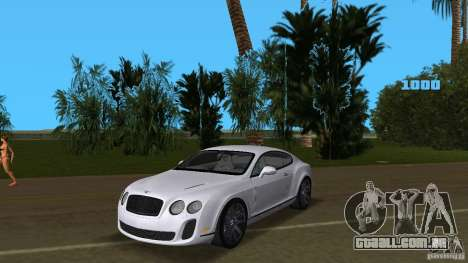 Bentley Continental Supersport para GTA Vice City