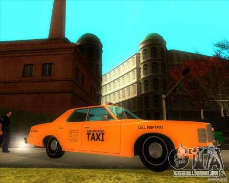Ford Custom 500 4 door taxi 1975 para GTA San Andreas esquerda vista