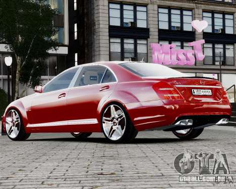Mercedes-Benz S65 AMG 2010 Final para GTA 4 esquerda vista