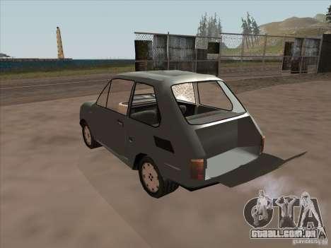 Fiat 126p Elegant para GTA San Andreas vista interior