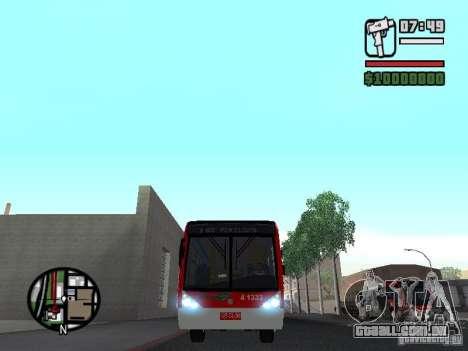 Caio Millennium TroleBus para GTA San Andreas vista interior