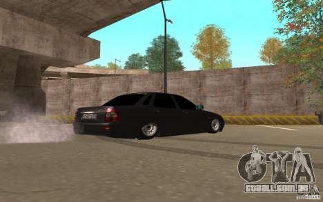 LADA priora luz tuning v. 2 para GTA San Andreas traseira esquerda vista