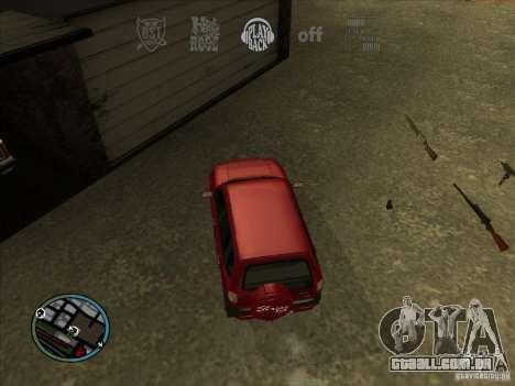 RADIO HUD IV 3.0 para GTA San Andreas por diante tela