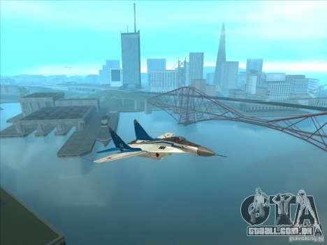MiG-29 os andorinhões para GTA San Andreas vista direita