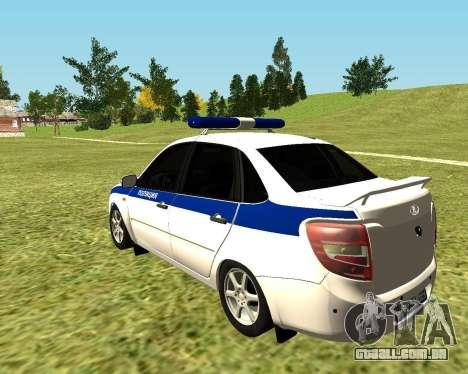 Polícia de 2190 VAZ para GTA San Andreas esquerda vista