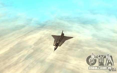 Saab J-35 Draken para GTA San Andreas esquerda vista