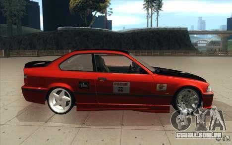 BMW Fan Drift Bolidas para GTA San Andreas vista interior