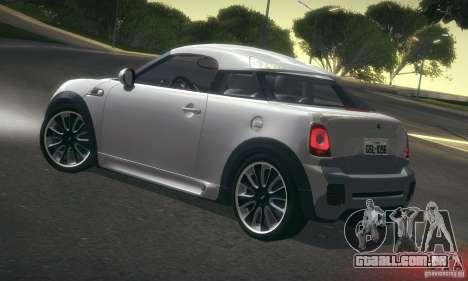 Mini Concept Coupe 2010 para GTA San Andreas traseira esquerda vista