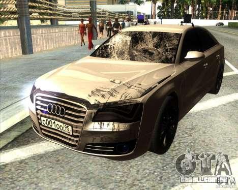 Audi A8 2010 v2.0 para GTA San Andreas vista inferior