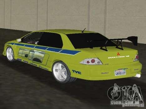 Mitsubishi Lancer Evolution VII para GTA Vice City deixou vista