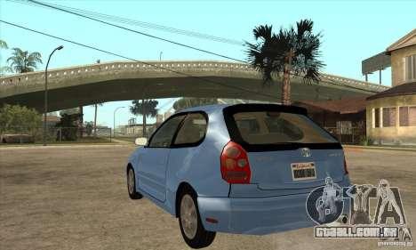 Toyota Corolla G6 Compact E110 US para GTA San Andreas traseira esquerda vista