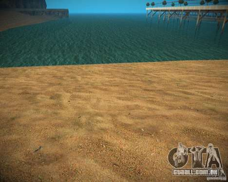 New textures beach of Santa Maria para GTA San Andreas por diante tela