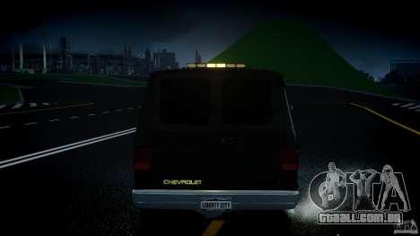 Chevrolet G20 Police Van [ELS] para GTA 4 vista inferior