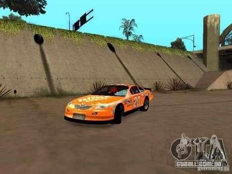 Toyota Camry Nascar Edition para GTA San Andreas esquerda vista