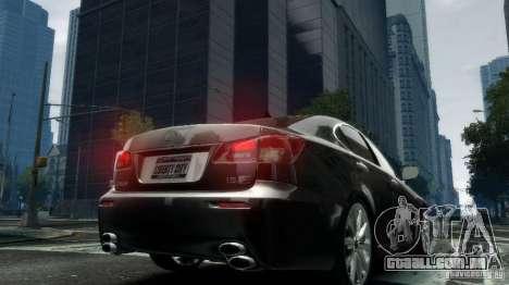 Lexus IS-F para GTA 4 traseira esquerda vista