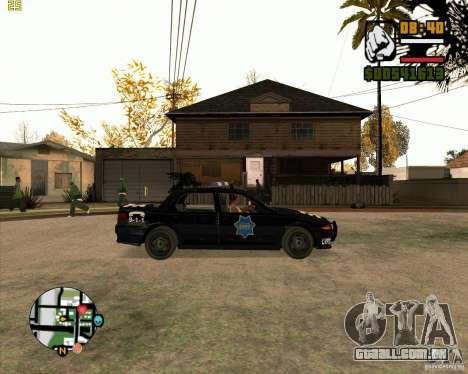 Carro de polícia de NFS: MW para GTA San Andreas traseira esquerda vista