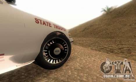 Ford Crown Victoria Louisiana Police para GTA San Andreas vista direita