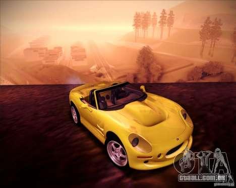 Shelby Series One 1998 para GTA San Andreas vista traseira