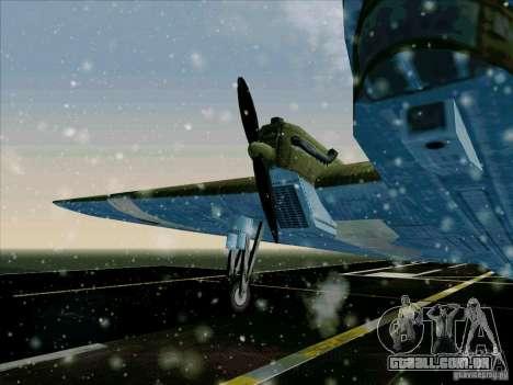 TB-3 para GTA San Andreas traseira esquerda vista