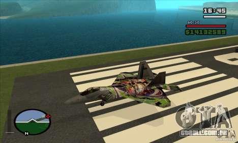 F-22 Raptor Graffity Skin para GTA San Andreas