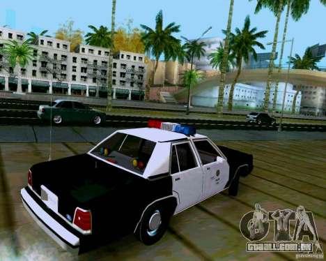 Ford Crown Victoria LTD LAPD 1991 para GTA San Andreas esquerda vista