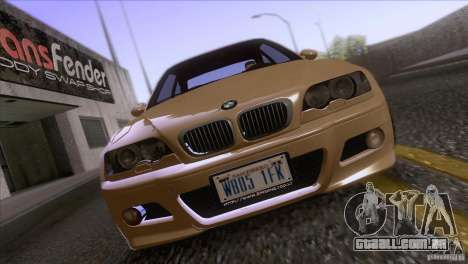 BMW M3 E48 para GTA San Andreas vista interior
