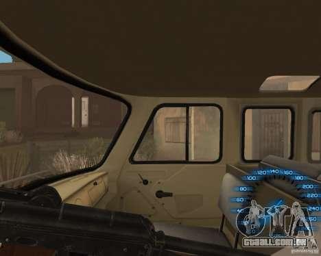 Atrás do volante para GTA San Andreas terceira tela