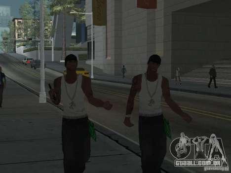 Substituir todos os skins Grove Street famílias para GTA San Andreas por diante tela