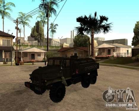 Ural 4320 caminhão para GTA San Andreas esquerda vista