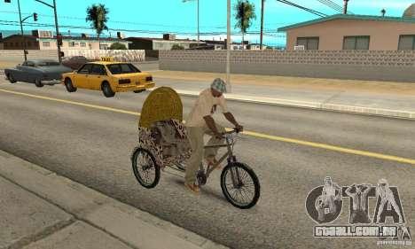 Manual Rickshaw v2 Skin4 para GTA San Andreas vista direita
