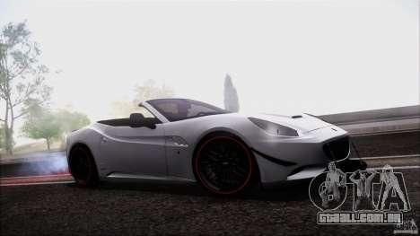 Ferrari California para GTA San Andreas vista traseira
