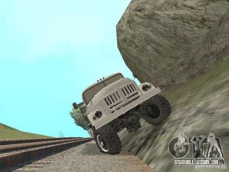 ZIL 131 Main para GTA San Andreas vista interior
