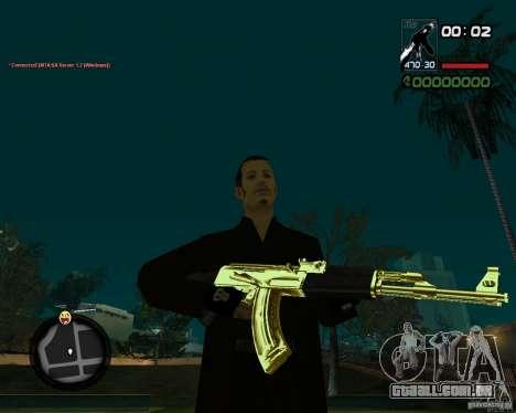 AK-47 Gold para GTA San Andreas