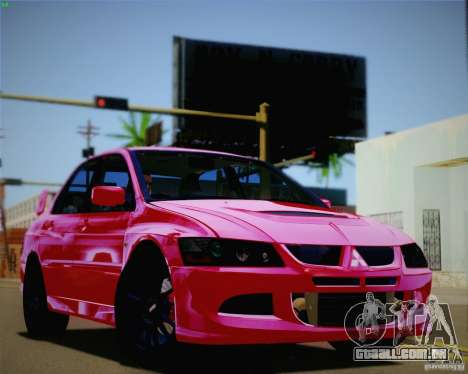 Mitsubishi Lancer EVO VIII MR 2004 para GTA San Andreas vista interior
