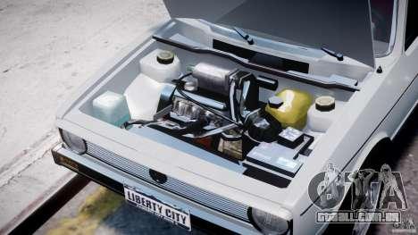 Volkswagen Golf Mk1 para GTA 4 vista interior