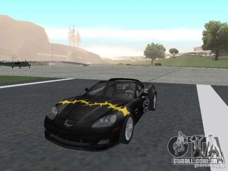 Chevrolet Corvette Z06 para GTA San Andreas vista inferior
