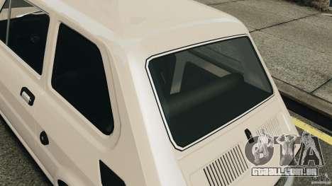 Fiat 126 Classic para GTA 4 vista de volta