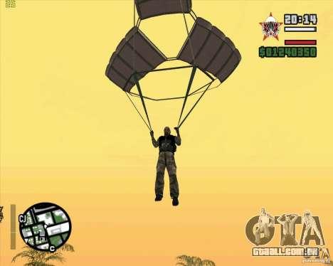 O novo pára-quedas para GTA San Andreas segunda tela