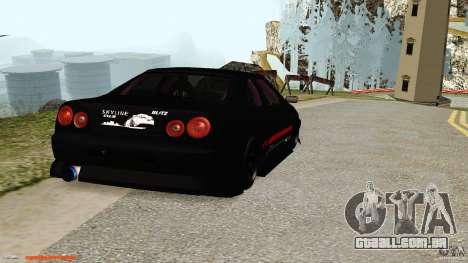 Nissan Skyline ER34 para GTA San Andreas vista direita