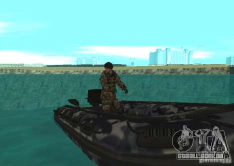Barco inflável do Zodíaco para GTA San Andreas esquerda vista