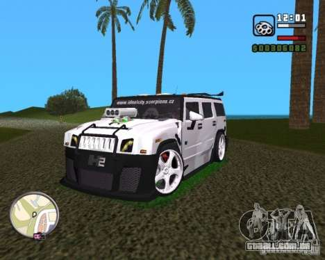 AMG Hummer H2 Hard Tuning v2 para GTA Vice City vista direita