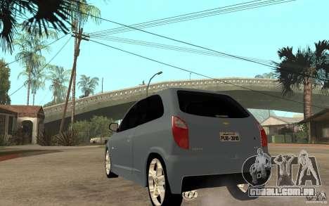 Chevrolet Celta VHC 2011 para GTA San Andreas traseira esquerda vista