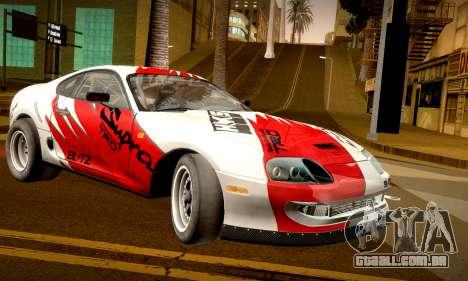 Toyota Supra JZA80 RZ Dragster para GTA San Andreas esquerda vista