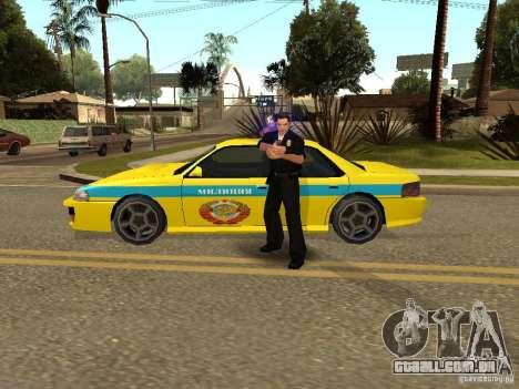 Sultan USSR Police para GTA San Andreas traseira esquerda vista