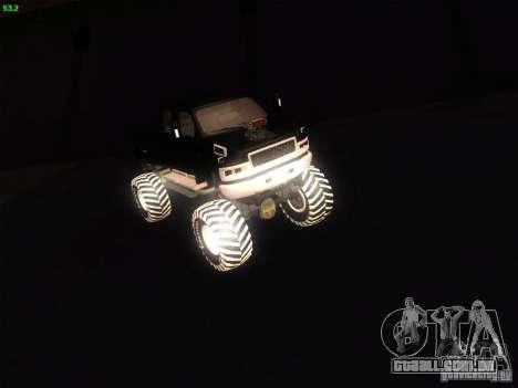 GMC Monster Truck para GTA San Andreas traseira esquerda vista