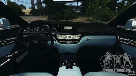 Mercedes-Benz S65 AMG 2012 v1.0 para GTA 4 vista interior