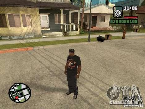 Rammstein t-shirt v2 para GTA San Andreas terceira tela